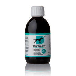 250ml DogVitality® with omega-3 and B vitamins – for fur, skin, paws, joints. Now with liver taste